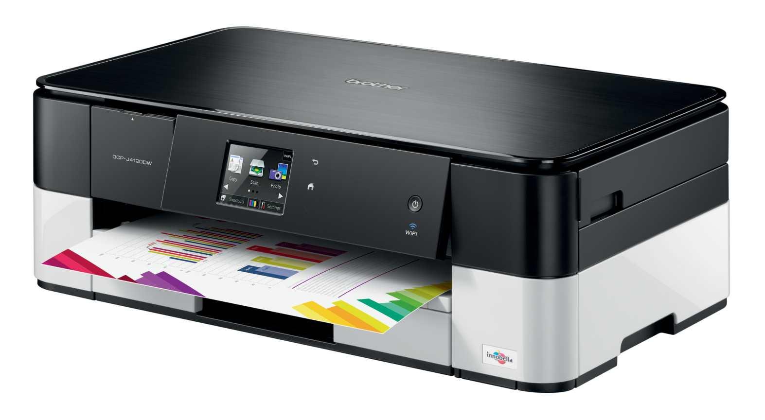 Brother DCP-J4120DW, tiskárna/kopírka/skener, tisk na šířku, duplexní tisk, síť, WiFi, dotykový LCD